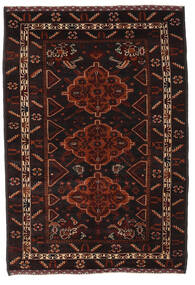 Belutsch Teppich  131X190 Echter Orientalischer Handgeknüpfter Dunkelbraun/Dunkelrot (Wolle, Afghanistan)