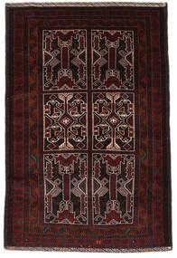 Belutsch Teppich  127X189 Echter Orientalischer Handgeknüpfter Dunkelrot (Wolle, Afghanistan)