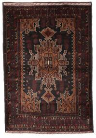 Belutsch Teppich  130X192 Echter Orientalischer Handgeknüpfter Dunkelbraun/Dunkelrot (Wolle, Afghanistan)