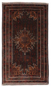 Belutsch Teppich  113X200 Echter Orientalischer Handgeknüpfter Dunkelbraun/Dunkelrot (Wolle, Afghanistan)