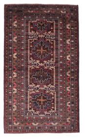 Belutsch Teppich  118X201 Echter Orientalischer Handgeknüpfter Dunkelbraun/Dunkelrot (Wolle, Afghanistan)