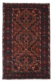 Belutsch Teppich  120X193 Echter Orientalischer Handgeknüpfter Schwartz/Dunkelrot (Wolle, Afghanistan)