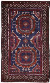 Belutsch Teppich  118X204 Echter Orientalischer Handgeknüpfter Dunkelblau/Dunkelrot (Wolle, Afghanistan)