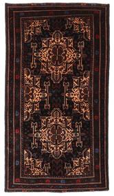 Belutsch Teppich  110X197 Echter Orientalischer Handgeknüpfter Dunkelbraun/Dunkelrot (Wolle, Afghanistan)