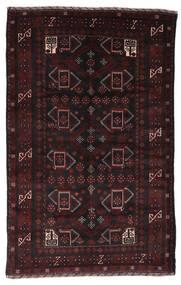 Belutsch Teppich  126X199 Echter Orientalischer Handgeknüpfter Dunkelbraun/Dunkelrot (Wolle, Afghanistan)