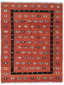 Kelim Nimbaft Teppich  157X200 Echter Moderner Handgewebter Rost/Rot/Dunkelrot (Wolle, Afghanistan)