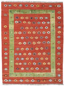 Kelim Nimbaft Teppich  152X200 Echter Moderner Handgewebter Rost/Rot/Orange (Wolle, Afghanistan)