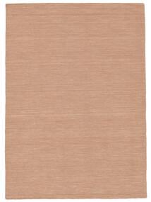 Kelim Loom - Dusty Rose Teppich  140X200 Echter Moderner Handgewebter Dunkelrot/Dunkelbraun/Weiß/Creme (Wolle, Indien)