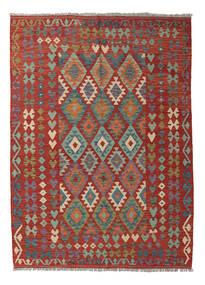 Kelim Afghan Old Style Teppich  177X242 Echter Orientalischer Handgewebter Dunkelrot/Dunkelgrau (Wolle, Afghanistan)