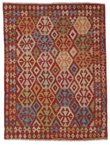 Kelim Afghan Old Style Teppich  148X195 Echter Orientalischer Handgewebter Dunkelrot/Hellbraun (Wolle, Afghanistan)
