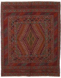Kelim Golbarjasta Teppich 145X185 Echter Orientalischer Handgewebter Schwartz/Dunkelbraun (Wolle, Afghanistan)