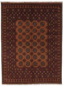 Afghan Teppich  145X195 Echter Orientalischer Handgeknüpfter Schwartz/Dunkelbraun (Wolle, Afghanistan)
