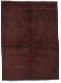 Afghan Khal Mohammadi Teppich  131X178 Echter Orientalischer Handgeknüpfter Schwartz (Wolle, Afghanistan)