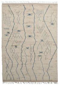 Moroccan Berber - Afghanistan Teppich 179X255 Echter Moderner Handgeknüpfter Hellbraun/Hellgrau (Wolle, Afghanistan)