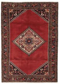 Hamadan Teppich  119X168 Echter Orientalischer Handgeknüpfter Schwartz/Dunkelrot/Dunkelbraun (Wolle, Persien/Iran)