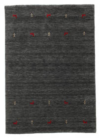 Gabbeh Loom Two Lines - 2. Wahl Teppich  140X200 Moderner Schwartz/Beige (Wolle, Indien)