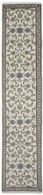 Nain Teppich  77X378 Echter Orientalischer Handgeknüpfter Läufer Dunkelgrau/Olivgrün (Wolle, Persien/Iran)