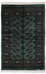 Pakistan Buchara 3Ply Teppich  120X175 Echter Orientalischer Handgeknüpfter Schwartz/Dunkelgrün (Wolle, Pakistan)