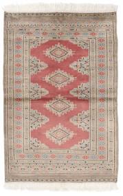 Pakistan Buchara 2Ply Teppich  80X119 Echter Orientalischer Handgeknüpfter Braun/Dunkelrot (Wolle, Pakistan)