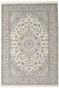 Nain 9La Teppich 206X305 Echter Orientalischer Handgeknüpfter Dunkelgrau/Hellgrau (Wolle/Seide, Persien/Iran)
