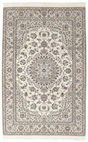 Nain 9La Teppich 155X242 Echter Orientalischer Handgeknüpfter Dunkelgrau/Dunkel Beige (Wolle/Seide, Persien/Iran)