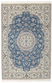 Nain 9La Teppich 148X230 Echter Orientalischer Handgeknüpfter Schwartz/Dunkelgrau (Wolle/Seide, Persien/Iran)