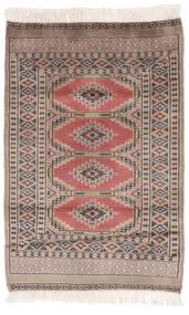 Pakistan Buchara 2Ply Teppich  78X117 Echter Orientalischer Handgeknüpfter Braun/Dunkelbraun (Wolle, Pakistan)
