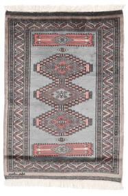 Pakistan Buchara 2Ply Teppich  82X115 Echter Orientalischer Handgeknüpfter Dunkelgrau/Schwartz (Wolle, Pakistan)