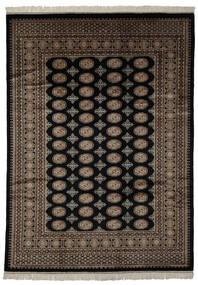 Pakistan Buchara 3Ply Teppich  220X306 Echter Orientalischer Handgeknüpfter Schwartz/Dunkelbraun (Wolle, Pakistan)