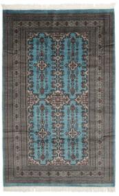 Pakistan Buchara 2Ply Teppich  154X240 Echter Orientalischer Handgeknüpfter Schwartz/Dunkelgrau (Wolle, Pakistan)