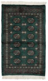 Pakistan Buchara 3Ply Teppich  93X149 Echter Orientalischer Handgeknüpfter Schwartz/Dunkelgrün (Wolle, Pakistan)