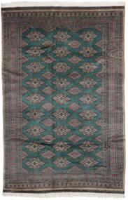 Pakistan Buchara 3Ply Teppich  156X235 Echter Orientalischer Handgeknüpfter Schwartz/Dunkelbraun (Wolle, Pakistan)