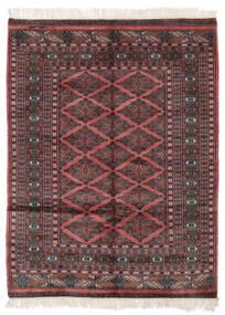 Pakistan Buchara 3Ply Teppich  125X165 Echter Orientalischer Handgeknüpfter Schwartz/Dunkelrot (Wolle, Pakistan)