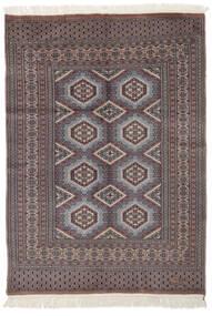 Pakistan Buchara 2Ply Teppich  122X170 Echter Orientalischer Handgeknüpfter Dunkelbraun/Schwartz (Wolle, Pakistan)
