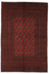 Afghan Teppich  154X237 Echter Orientalischer Handgeknüpfter Schwartz (Wolle, Afghanistan)