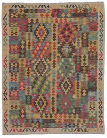 Kelim Afghan Old Style Teppich  150X195 Echter Orientalischer Handgewebter Braun/Schwartz/Dunkelbraun (Wolle, Afghanistan)
