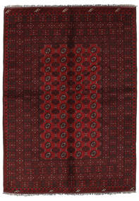 Afghan Teppich  157X228 Echter Orientalischer Handgeknüpfter Schwartz (Wolle, Afghanistan)