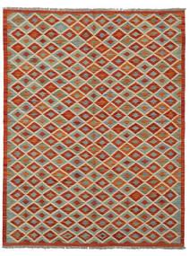 Kelim Afghan Old Style Teppich  154X200 Echter Orientalischer Handgewebter Dunkelrot/Dunkelbraun (Wolle, Afghanistan)