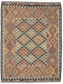 Kelim Afghan Old Style Teppich  152X197 Echter Orientalischer Handgewebter Dunkelbraun/Schwartz (Wolle, Afghanistan)