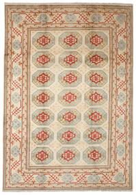 Afghan Teppich  204X297 Echter Orientalischer Handgeknüpfter Hellbraun/Braun (Wolle, Afghanistan)